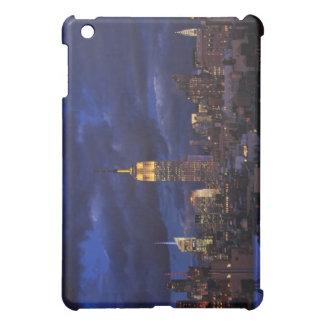 Empire State Building in Yellow, Twilight Sky 02 iPad Mini Cover
