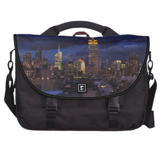 Empire State Building in Yellow, Twilight Sky 02 Bag For Laptop