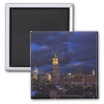 Empire State Building in Yellow, Twilight Sky 02 Magnets