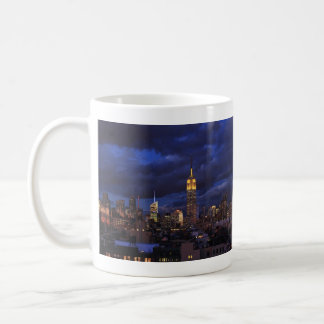 Empire State Building in Yellow, Twilight Sky 02 Classic White Coffee Mug