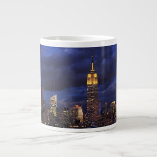 Empire State Building in Yellow, Twilight Sky 02 Extra Large Mugs