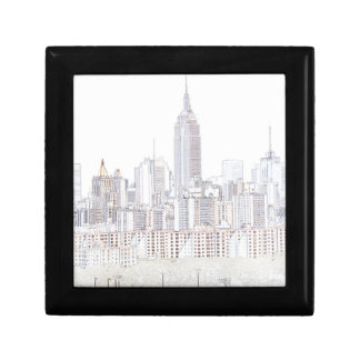 Empire State Building line drawing Keepsake Boxes