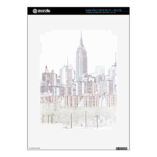 Empire State Building line drawing iPad 3 Decals