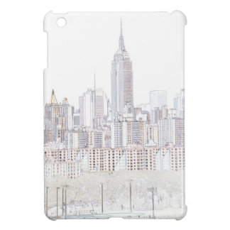 Empire State Building line drawing iPad Mini Cover
