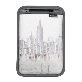 Empire State Building line drawing iPad Mini Sleeve