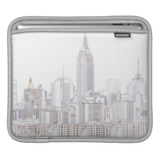 Empire State Building line drawing iPad Sleeves