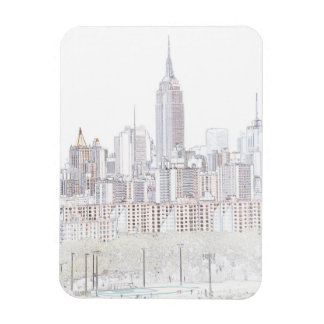 Empire State Building line drawing Magnet