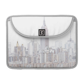 Empire State Building line drawing Sleeves For MacBooks