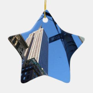 Empire State Building Manhattan Ceramic Ornament