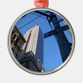 Empire State Building Manhattan Metal Ornament