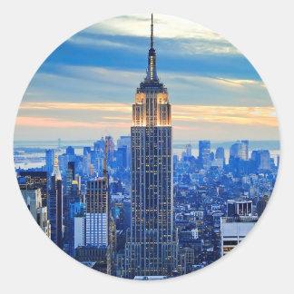 Empire State Building, Manhattan, New York City Pegatina Redonda