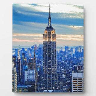 Empire State Building, Manhattan, New York City Placa Para Mostrar
