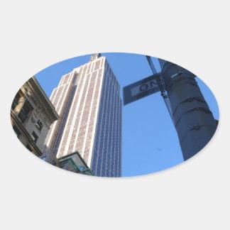 Empire State Building Manhattan Oval Sticker