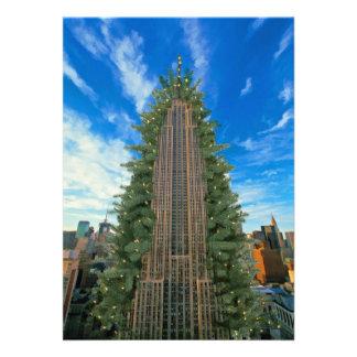 Empire State Building Morphed al árbol de Navidad Comunicado