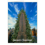 Empire State Building Morphed Into Christmas Tree Greeting Card