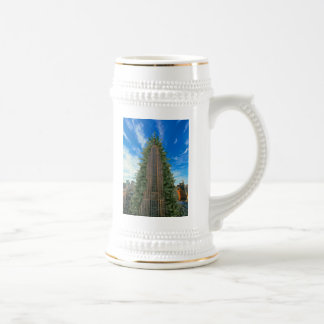 Empire State Building Morphed to Xmas Tree 18 Oz Beer Stein