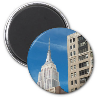 Empire State Building New York City April 2012 2 Inch Round Magnet