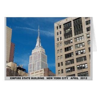 Empire State Building New York City April 2012 Card