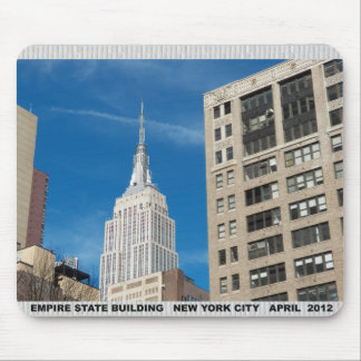 Empire State Building New York City April 2012 Mouse Pad