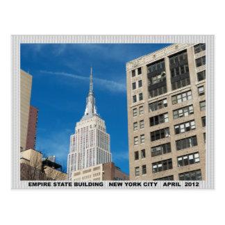 Empire State Building New York City April 2012 Postcard