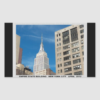Empire State Building New York City April 2012 Rectangular Sticker