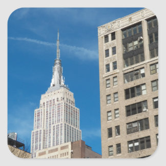 Empire State Building New York City April 2012 Square Sticker