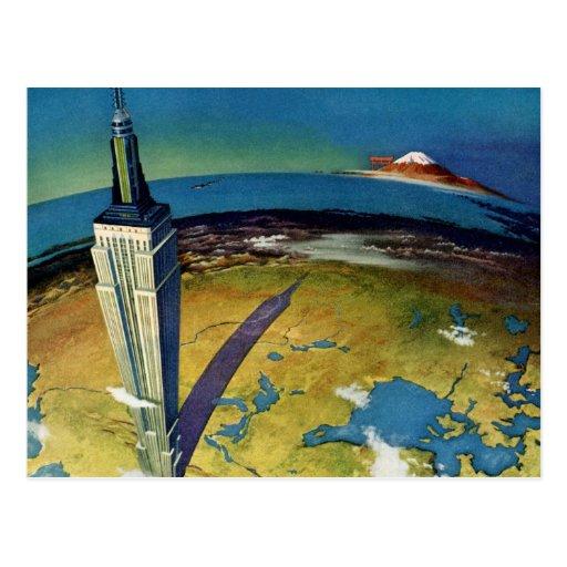 Empire State Building New York City del vintage Tarjetas Postales