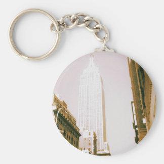 Empire State Building, New York City Llavero Redondo Tipo Pin