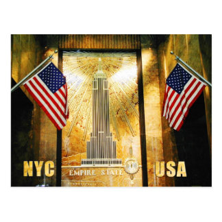 Empire State Building, New York City Post Card