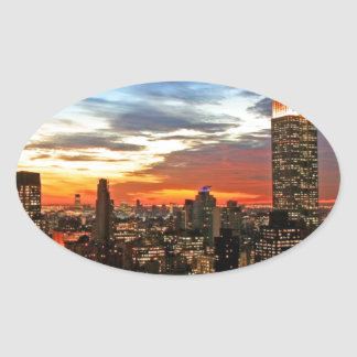 Empire State Building New York Oval Sticker