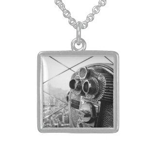 Empire State Building New York Pro Photo Square Pendant Necklace