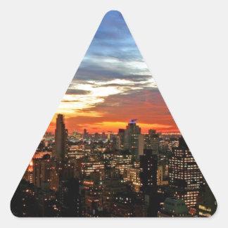 Empire State Building New York Triangle Sticker