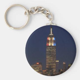 Empire State Building: Noche 2012 #1 de la Llavero Redondo Tipo Chapa