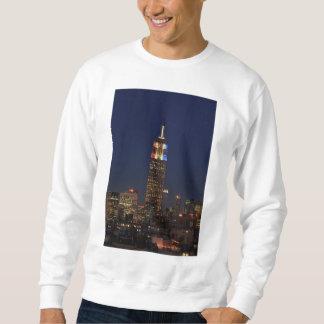Empire State Building: Noche 2012 #1 de la Sudadera Con Capucha