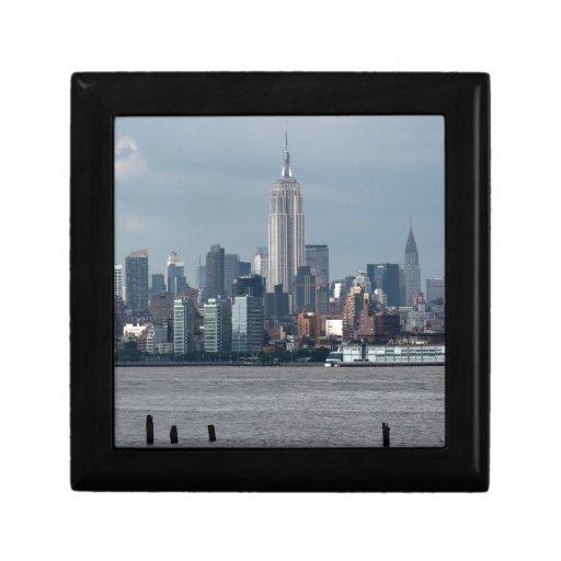 Empire State Building Nueva York los E.E.U.U. Joyero Cuadrado Pequeño