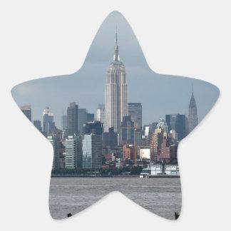 Empire State Building Nueva York los E.E.U.U. Calcomanía Forma De Estrella Personalizadas