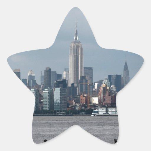 Empire State Building Nueva York los E.E.U.U. Calcomanía Forma De Estrellae