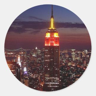 Empire State Building Nueva York Pegatina Redonda