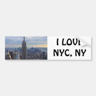 Empire State Building NYC, NY Etiqueta De Parachoque
