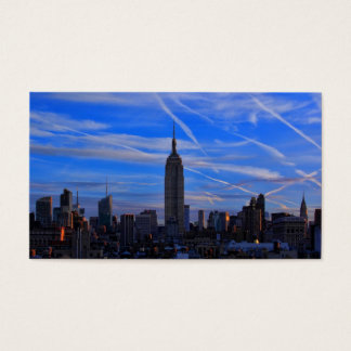 Empire State Building, NYC Skyline and Jet Trails Business Card