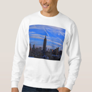 Empire State Building, NYC Skyline and Jet Trails Sweatshirt