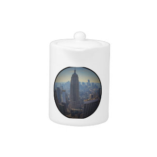 Empire State Building, NYC Skyline, Fish Eye View