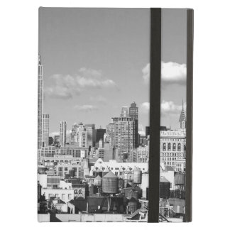 Empire State Building NYC Skyline Puffy Clouds BW iPad Air Case