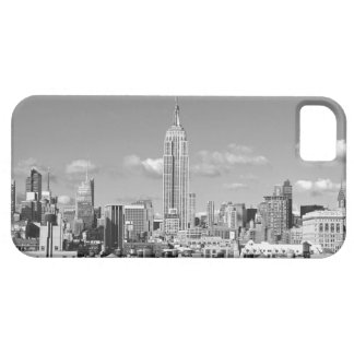 Empire State Building NYC Skyline Puffy Clouds BW iPhone 5 Covers