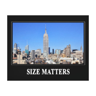 Empire State Building, NYC Skyline: Size Matters Canvas Print