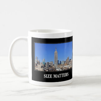 Empire State Building, NYC Skyline: Size Matters Coffee Mug