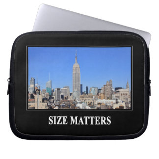 Empire State Building, NYC Skyline: Size Matters Laptop Computer Sleeves