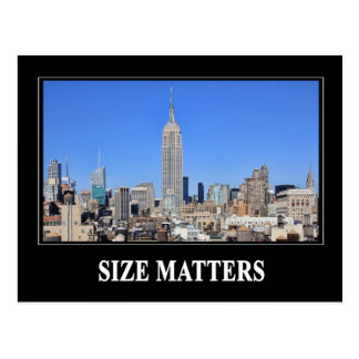 Empire State Building NYC Skyline Size Matters Post Cards