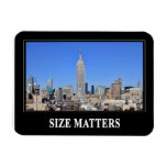 Empire State Building, NYC Skyline: Size Matters Rectangular Magnet