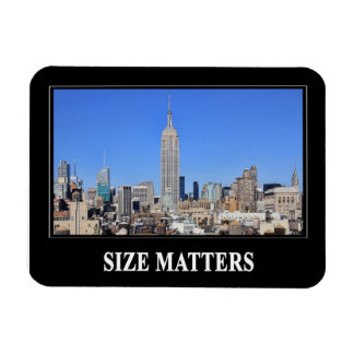 Empire State Building, NYC Skyline: Size Matters Rectangular Photo Magnet